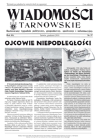 Okładka WIADOMOŚCI TARNOWSKIE NR 57