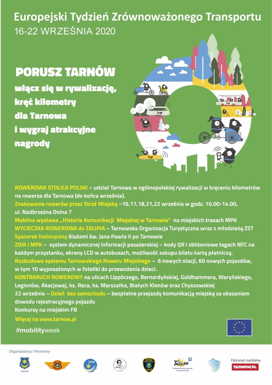 Plakat Europejskiego Tygodnia Zrównoważonego Transportu